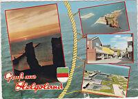 AK Helgoland Hochseeinsel Felsen Meer MBK 4 Bilder gel. 1971 nach Mainz Kastell