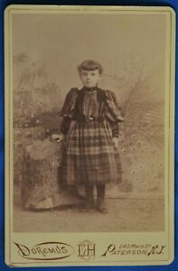 Cabinet Photo Girl Plaid Dress Doremus Paterson NJ ...