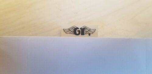 Black  GT wing seatpost clamp decal black on clear old school bmx 1987-1990