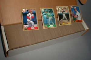 Details About 1987 Topps Baseball Complete Set 792 Cards Nmmint Free Shipping