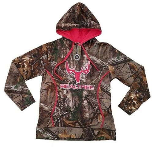 Realtree Cottonwood Canyon Woman Hoodie Hooded Pullover Sweatshirt Camo Back NEW