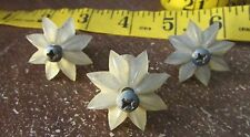 Vintage Hardware- Clear Plastic Mirror / Glass Flower Screw Mounting Mount Clips