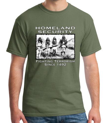 Homeland Security Adult/'s T-shirt Fighting Terrorism Tee for Men 1250C