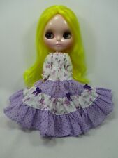 Blythe Outfit Handcrafted long sleeve dress basaak doll # 790-81