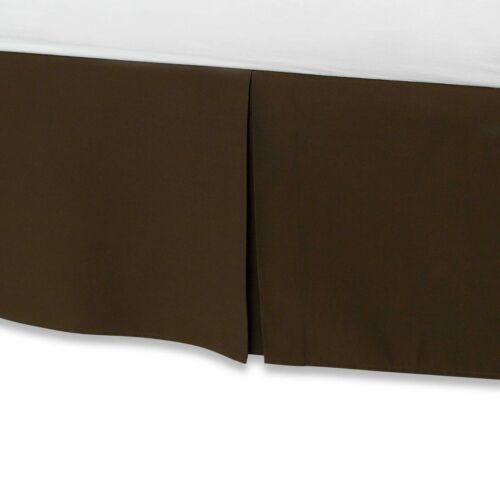 "Simple Tuck Pleated Bed Skirt Solid 620 TC Cotton Split Corner Drop 12/"" 13/"" 14/"""