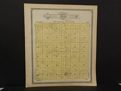 Logical Illinois Logan County Map Oran Township 1910 J11#06 Various Styles Antiques Maps, Atlases & Globes