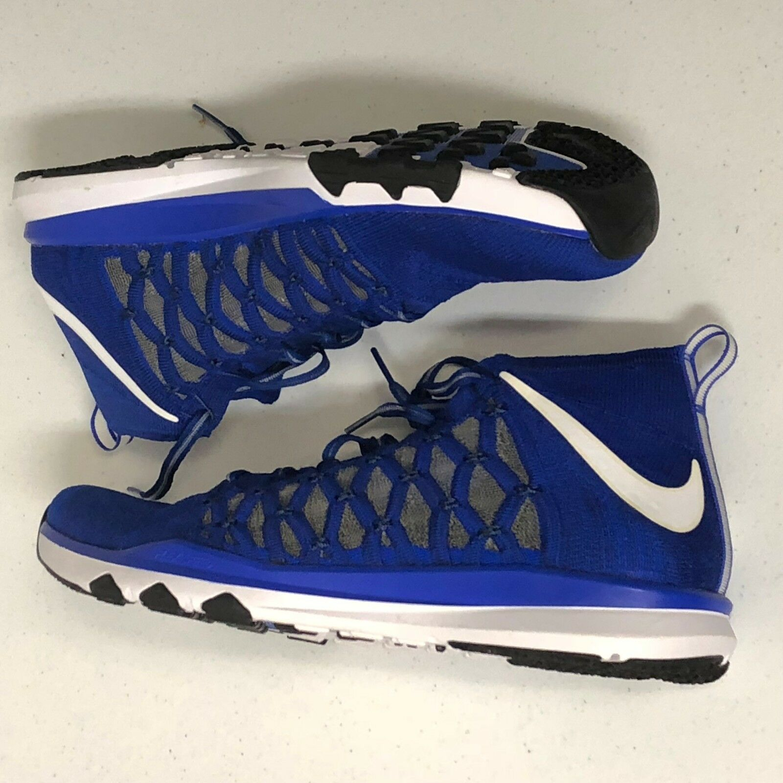 Nike Train Ultra Fast Flyknit Men's Sz 13  bluee White NEW 843694-401 NO BOX TOP