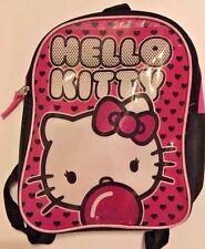 "Hello Kitty 10"" Mini Backpack Toddler Girls Lunch Bag or PreSchool Book Bag"