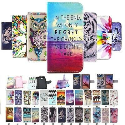 Deluxe Painted PU Leather Wallet Flip Card Holder Case Cover For Samsung Galaxy