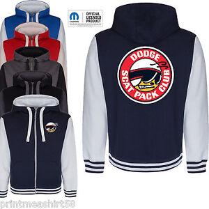Dodge Ram Hoodie >> Licenced Mopar Dodge Ram Scat Pack Logo Sign Varsity Hoody Hoodie zipper Jacket | eBay