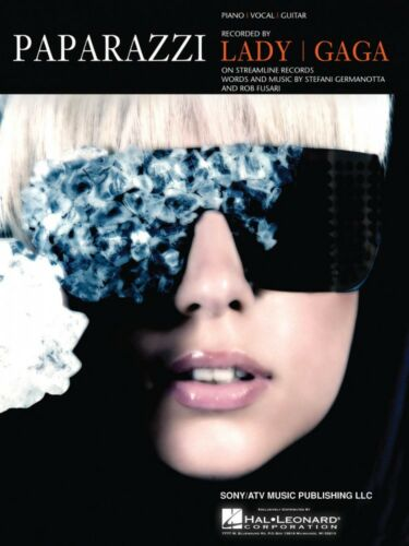 Paparazzi Sheet Music Piano Vocal Lady Gaga NEW 000354008