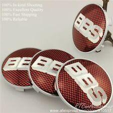 4PCS  Logo red silver  Wheel Center Hub Caps Badge For BBS Face 68mm Clip 65mm