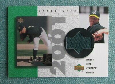 wholesale dealer 1709d 7b36f 2002 UPPER DECK BASEBALL BARRY ZITO 2001 ROOKIE JERSEY OAKLAND ATHLETICS |  eBay