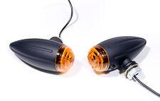 Bullet Mini Lampeggiante nero Fari lampeggianti per Honda Moto