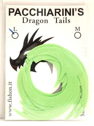 Paolo pacchiarini/'s Dragon Tails Large Chartreuse 6 piece Dragon Tails Large