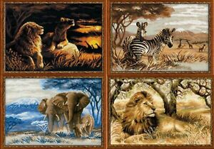 RIOLIS-Wild-Animals-Counted-Cross-Stitch-Kits