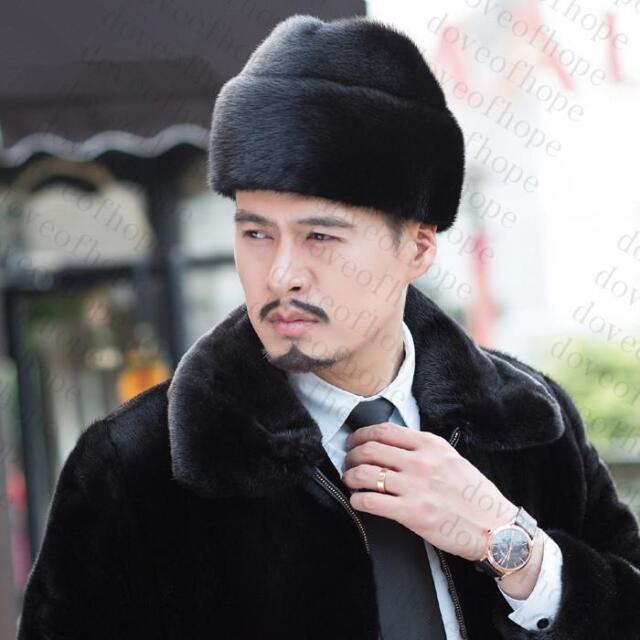 3f5a4d9aef5b8c Winter men Real New Mink Fur Hat Cap Headgear Beanie Beret QS 00054.3