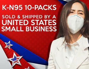 K-N95 KN95 Mask Respirator 10 Pieces - AUTHORIZED SELLER - listed on FDA SITE