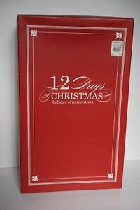 POTTERY BARN 12 DAYS OF CHRISTMAS HOLIDAY ORNAMENT SET | eBay