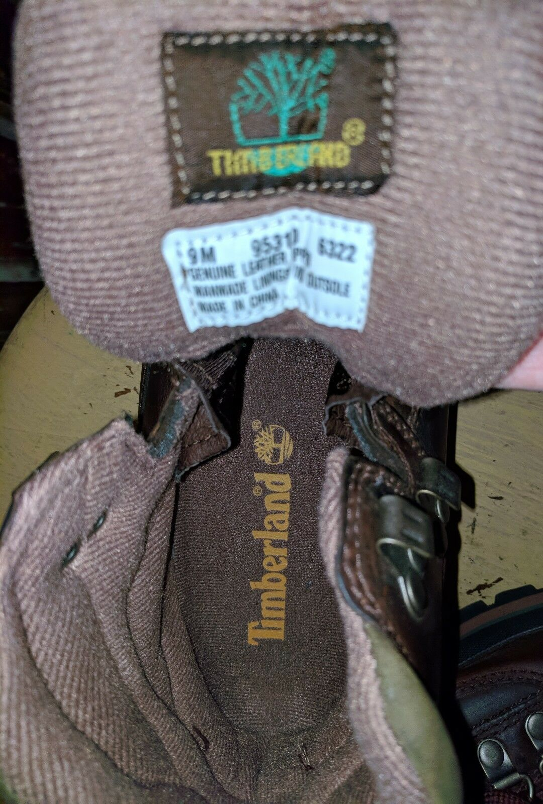 TIMBERLAND LADIES LEATHER TRAIL HARDCORE HIKING TRAIL LEATHER Stiefel BROWN 9 M STOMPER ANKLE fe3696