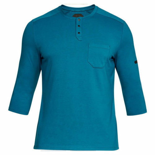 85a7050c Under Armour Mens Unstoppable Knit ¾ Sleeve Utility Henley Shirt Blue M Tee  for sale online | eBay