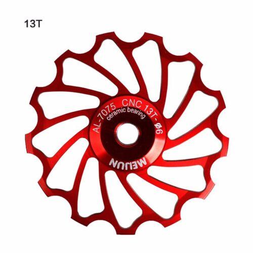Bike Ceramic Pulley Rear Derailleur 11T 13T Guide Cycling Ceramics Bearing