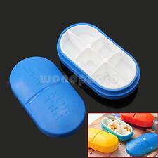 Organizador Caja para Tabletas Píldoras Medicina Cápsulas Pastillero Portátil