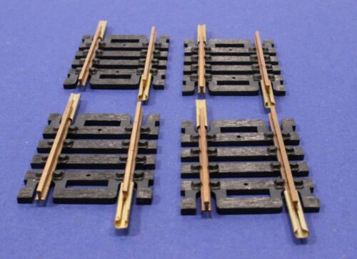 """Lot of 8 Atlas HO Scale 1 1//2/"""" Short Brass Conventional Snap Tracks #25 *New*"""