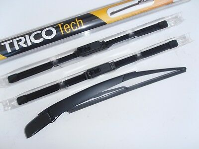 Kia Picanto 2004-2017 Latest TRICO Front  Wiper Blades.+ Smooth Rear Arm Blade