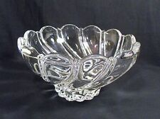 Elegant  Mikasa Crystal Swirl Bowl Peppermint Clear Centerpiece Serving Fruit