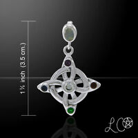 Laurie Cabot Elemental Witches Knot Gem Sterling Silver Pendant By Peter Stone