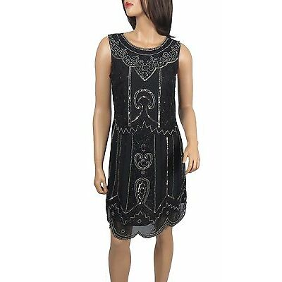 New Women 1920's Gatsby fully embellished shift dress from size 8 to PLUS SIZES