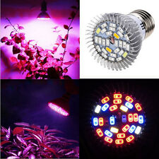 28W LED Grow Light Pianta Fiore Verdura Crescere Lampadina E27 LED Lunga Durata NUOVO