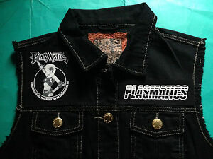 Brainwashed Sz 16 Chaleco 8 Corte Punk Denim Plasmatics Metal parche dnPqvv7w