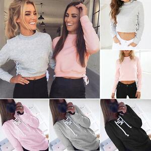 Women-Casual-Long-Sleeves-Hoodie-Sweatshirt-Sweater-Hooded-Coat-Pullover-Jumper