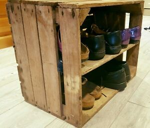 Solid-Shoe-Book-Storage-Crate-Made-From-Fruit-And-Wine-Crates-Decorative-Crates