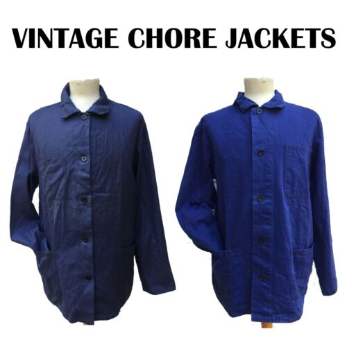 FRENCH WORKER/CHORE JACKETS - Navy Blue - Various