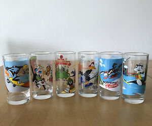 Looney Tunes IXL Extreme Sports Limited Edition Complete Set 6 Glasses 2000