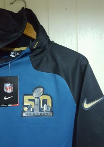30%OFF NFL Super Bowl 50 Nike Therma-Fit Pullover Jacket Hoodie  Large 2161e2c7c