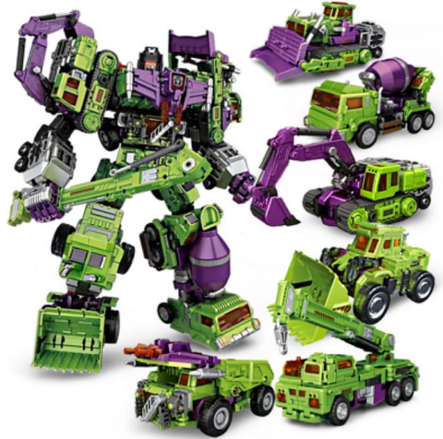 HOT Transformers NBK DEVASTATOR Transformation Boy Toy OverTaille figurine Ro