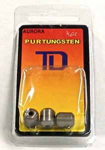 3 per pack 3//8oz PLAIN tungsten worm weights