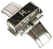 16mm Hirsch Stainless Steel Silver Butterfly Pusher Deployant Clasp Buckle