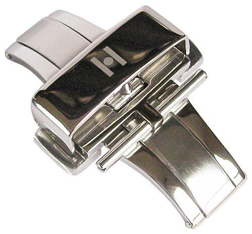 schwarz in 18mm 20mm 22 Faltschließe aus Edelstahl HIRSCH DEPLOYMENT BUCKLE