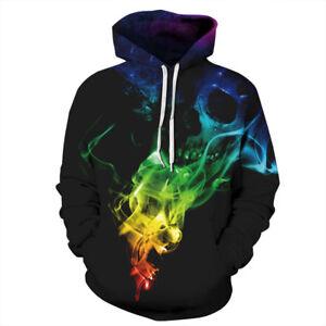 Men-Women-039-s-3D-Print-Hoodie-Sweater-Sweatshirt-Jacket-Coat-Pullover-Skull-Top