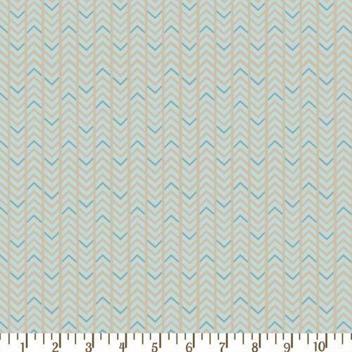 Timberland Critters Adornit Wonky Arrow Blue Grey  Fabric Fat Quarter