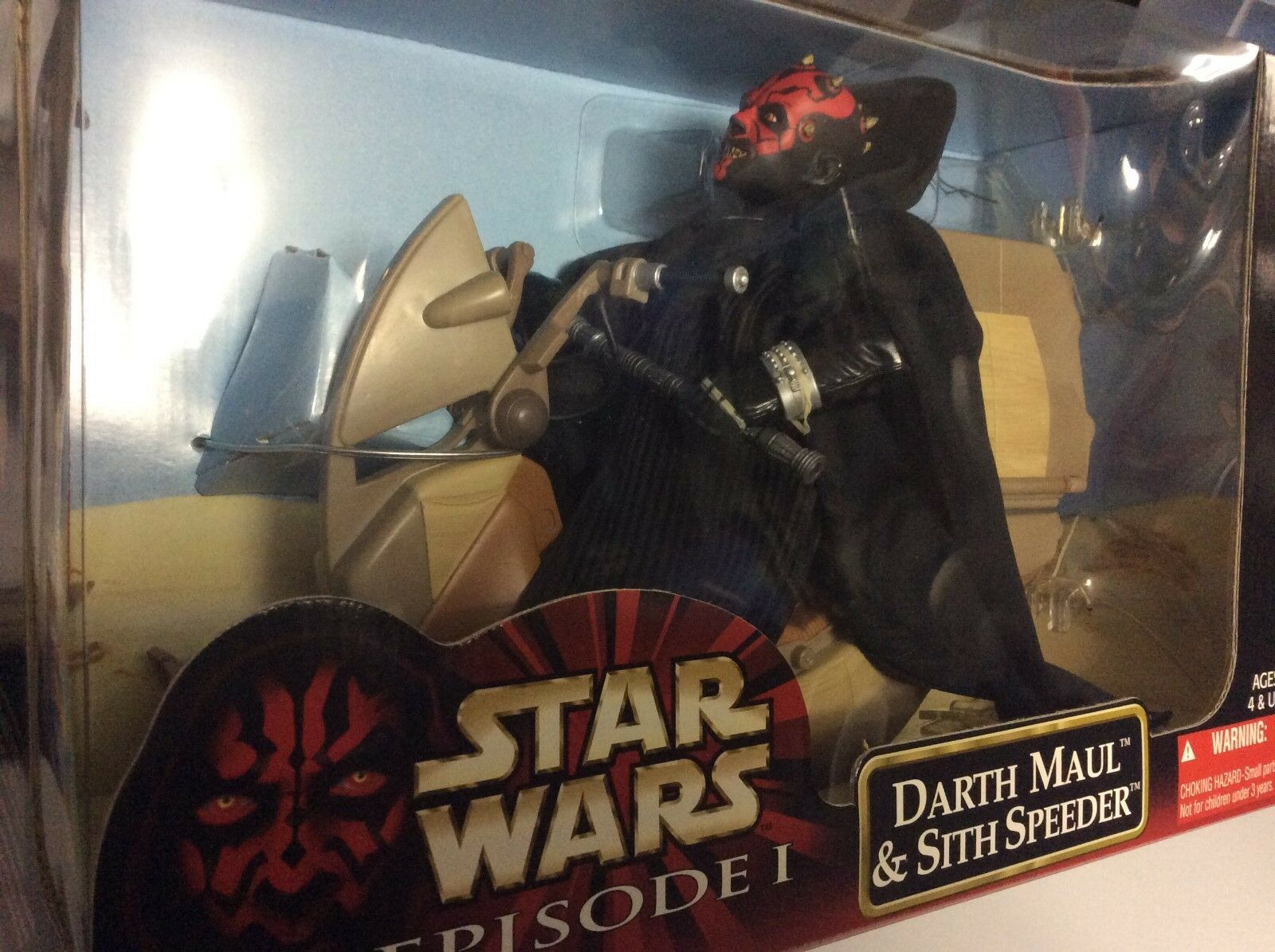 12  Estrella Wars Darth Maul & Sith Speeder - 1999 producto Exclusivo De Walmart