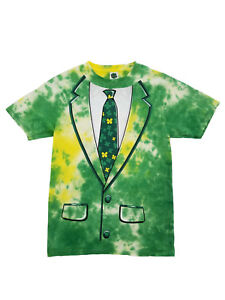 c736381f5e23 Mens Green Tie Dye Lucky Suit Four Leaf Clover St. Patrick's Day T ...