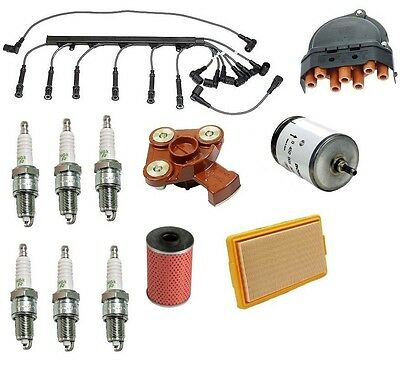 Tune Up Kit Fuel Filter Plugs Wire Set Cap Rotor for BMW 528e 1982-1987