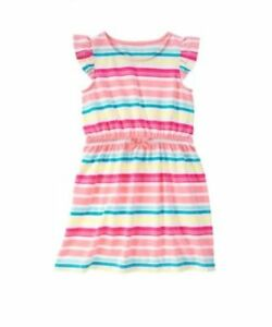 NWT-Gymboree-Girls-Hop-N-Roll-Multi-Color-Striped-Dress-Size-4-amp-5