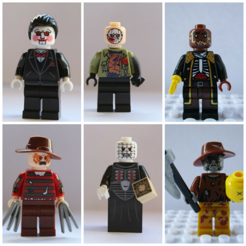 6 Piece Horror Movie Mini Figure Set Jason,Saw,Freddy,Hellraiser Use With lego